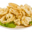 Golden deep fried onion rings — Stock Photo #9608697