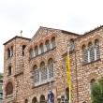 Byzantine orthodox church of Aghios Demetrios in Thessaloniki — Stock Photo #9610950