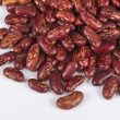 A handful of red beans. View from above. Isolated on white backg — Stock Photo
