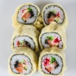 Japanese Cuisine -Tempura Maki Sushi (Deep Fried Roll made of sa — Stockfoto