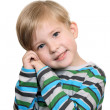 A shy boy — Stock Photo