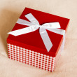 Gift box with a bow — Stock Photo
