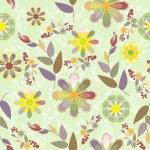 Fresh summer seamless background — Stock Vector