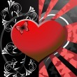 Vector de stock : Valentines heart background