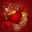 Valentines Day background. Vector illustration - Vettoriali Stock