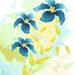 Flowers watercolor drawing, vector  illustration - Stock Vector
