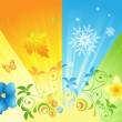 Sunny seasons - Stock Vector