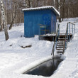 Stock Photo: Place for winter swimming.