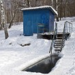 Place for winter swimming. — Stock Photo