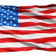 USA flag waving in the wind. - Stock Photo