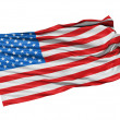 USA flag waving in the wind. — Stock Photo