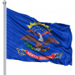 Waving Flag of North Dakota — Stock Photo #10058060