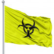 Waving Flag of Radiation — Stock Photo