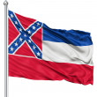 Waving Flag of USA state Mississippi - Stock Photo