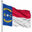 Waving Flag of USA state North Carolina — Stock Photo #10058635