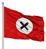 Waving Flag of antinazi — Stock Photo