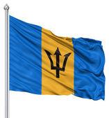 Waving Flag of Barbados — Stock Photo