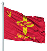 Waving Flag of USA city, Albuquerque — Stock Photo
