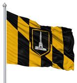 Waving Flag of USA city, Baltimore — Stock Photo