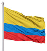 Waving Flag of Colombia — Stock Photo