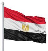 Ondeando la bandera de egipto — Foto de Stock