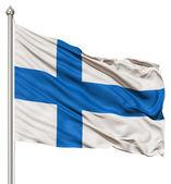 Waving Flag of Finland — Stock Photo