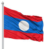 Waving Flag of Laos — Stock Photo