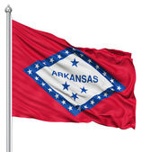 Waving Flag of USA state Arkansas — Stock Photo