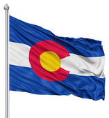 Waving Flag of USA state Colorado — Stock Photo