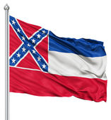 Waving Flag of USA state Mississippi — Stock Photo