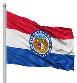 Waving Flag of USA state Missouri — Stock Photo