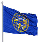 Waving Flag of USA state Nebraska — Stock Photo