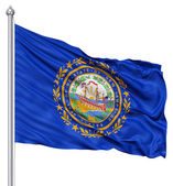 Waving Flag of USA state New Hampshire — Stock Photo