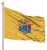 Waving Flag of USA state New Jersey — Stock Photo
