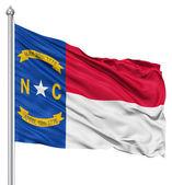 Waving Flag of USA state North Carolina — Stock Photo