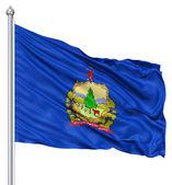 Viftande flagga usa staten vermont — Stockfoto