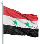 Waving Flag of Syria — Stock Photo