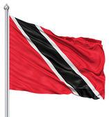 Waving Flag of Trinidad and Tobago — Stock Photo