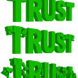 Cracking and crumbling of the word Trust — Stock Photo