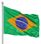 Flagge von brasilien — Stockfoto