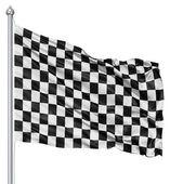 Bandeira quadriculada preto e branca — Foto Stock