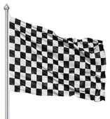 Checkered black and white flag — Foto Stock
