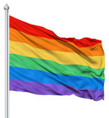 Rainbow gay flag — Stock Photo