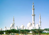 Mosque in Abu Dhabi — Stock Photo