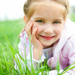 Little girl on the meadow — Stock Photo