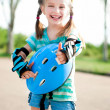 Little girl in roller skates — Stock Photo #10551813