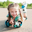 Little girl in roller skates - Foto de Stock  