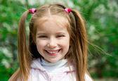 Happy liitle girl — Stock Photo