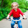Royalty-Free Stock Photo: Girl with bicycle