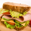 Ham and cheese sandwich — Stock Photo